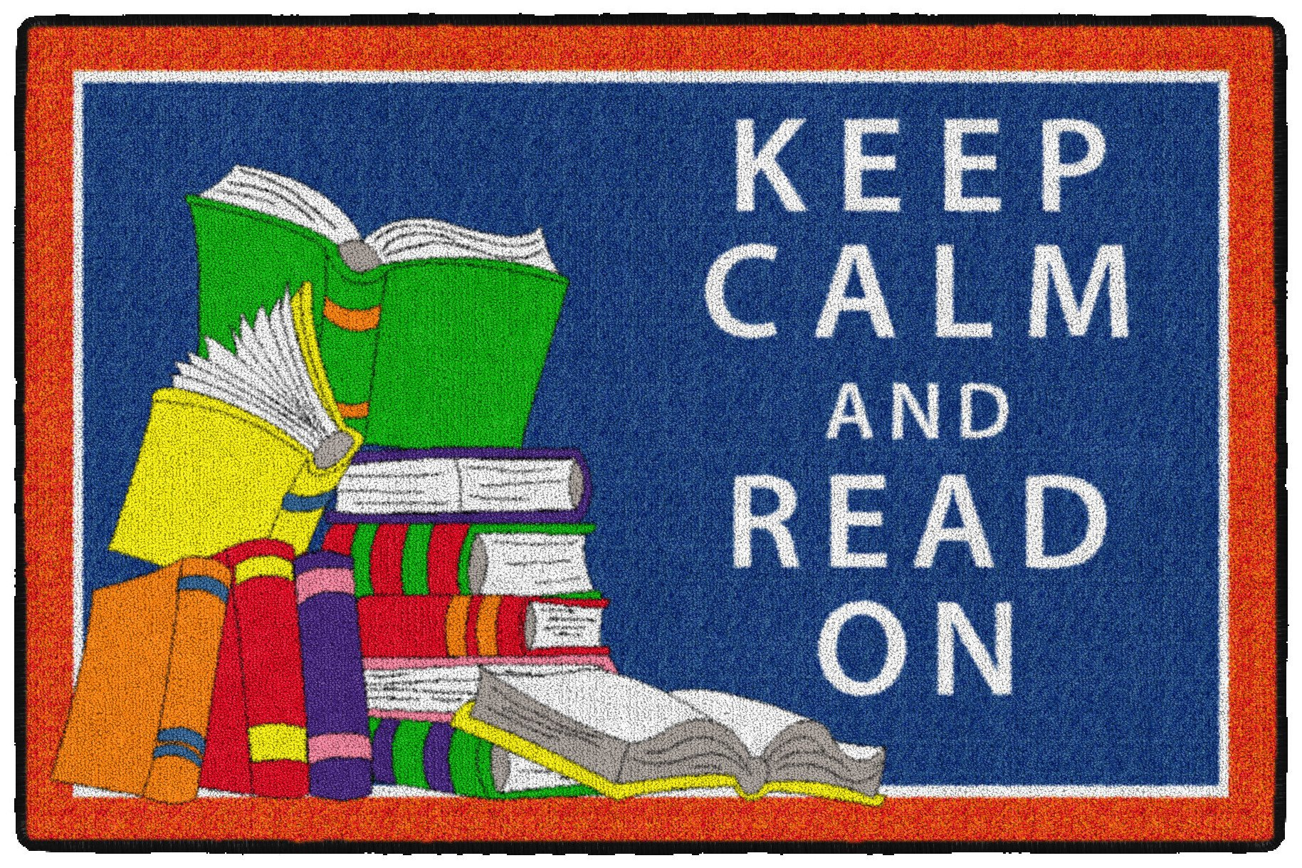 Flagship Carpets CE349-08W Keep Calm and Read on, Multi
