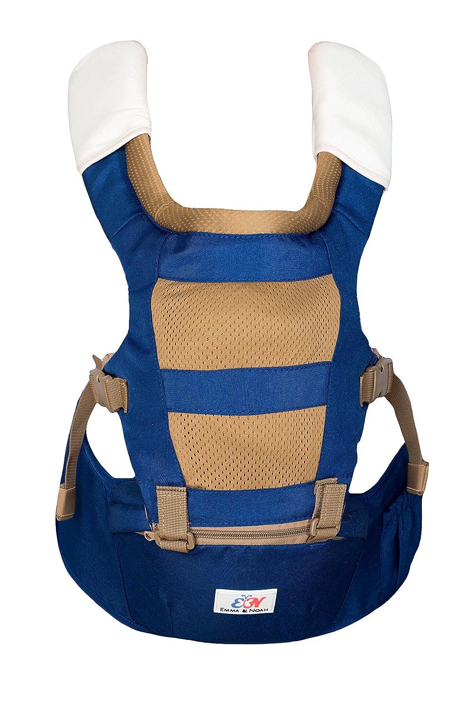 Emma & Noah Babytrage, ergonomisch für Kind und Eltern, 3-in-1 Trage, empfohlen von 6-36 Monate, Blau, Kindertrage, Baby-Tragegurt, Baby Carrier, Baby-Tragetasche