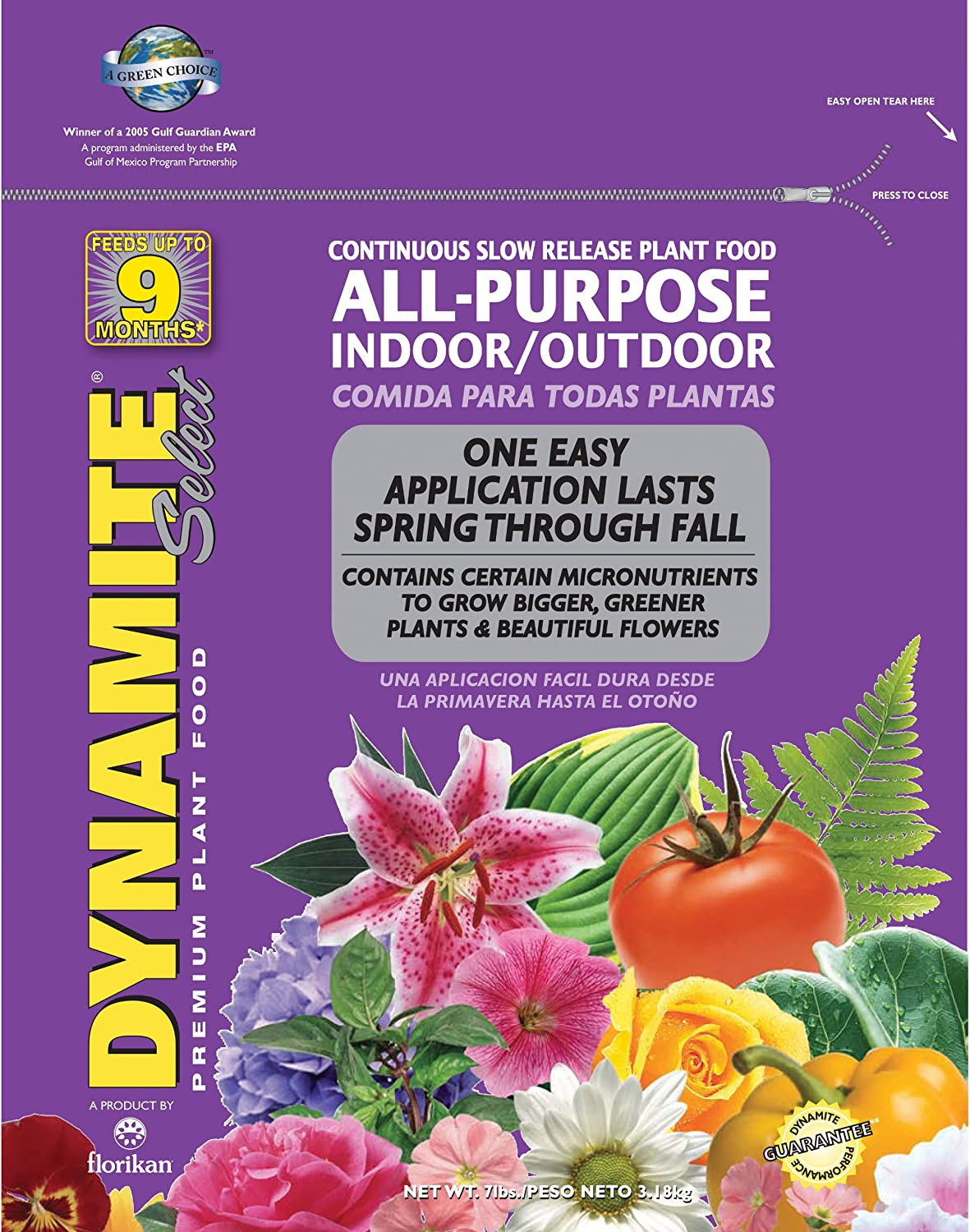 Dynamite 85001 Select All Purpose Plant Food, 7-Pound