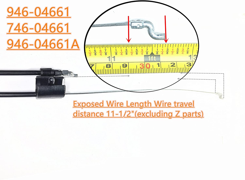 "Engine Zone Control Cable MTD Troybilt 746-04661a 946-04661a  21/"" deck"