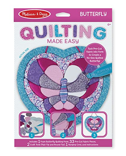 Melissa Doug Quilting Made Easy Butterfly Toy