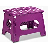 """Folding Step Stool - 11"""" Wide - The Lightweight Step Stool is Sturdy Enough to Support Adults and Safe Enough for Kids. Opens Easy with One Flip. Great for Kitchen, Bathroom, Bedroom, Kids or Adults."""