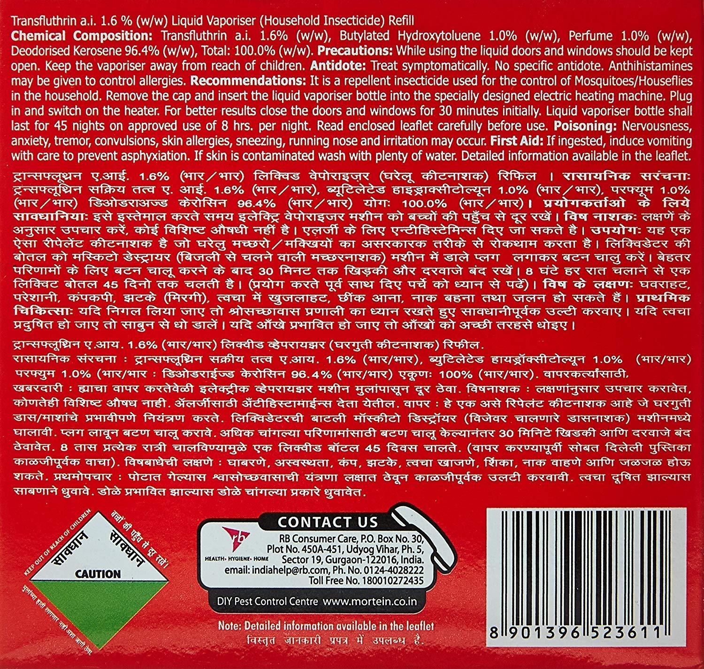 8756e27a2b81e2 Mortein Insta5 Refill - 70 ml (Pack of 2)  Amazon.in  Garden   Outdoors