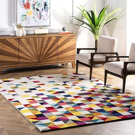 Amazon Com Nuloom Triangle Geometric Area Rug 5 X 8 Multi Furniture Decor