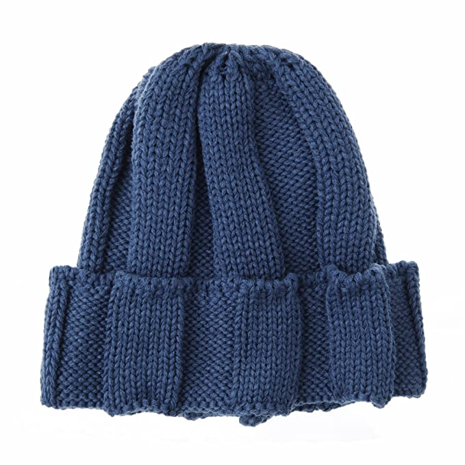 c02364687 WITHMOONS Knitted Ribbed Beanie Hat Basic Plain Solid Watch Cap AC5845