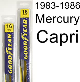 "product image for Mercury Capri (1983-1986) Wiper Blade Kit - Set Includes 16"" (Driver Side), 16"" (Passenger Side) (2 Blades Total)"