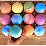 Amazon Price History for:12 Bath Bombs Gift Set Super Large 5oz Each Best Gift Ideas for Women Teen Girls and Kids Handmade with Natural Vegan Shea & Cocoa Butter Spa with Fizzies and Included 12 Candles Mothers Day Gifts