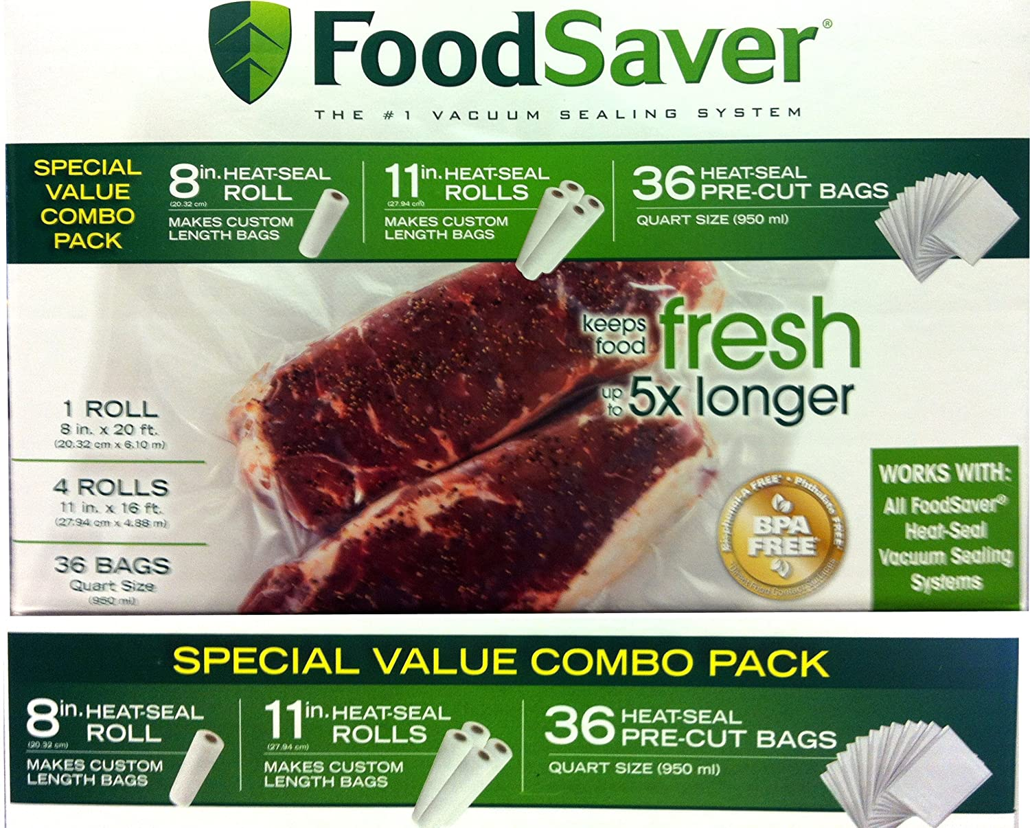 Amazon.com: FoodSaver Special Value - bolsas sellables combo ...