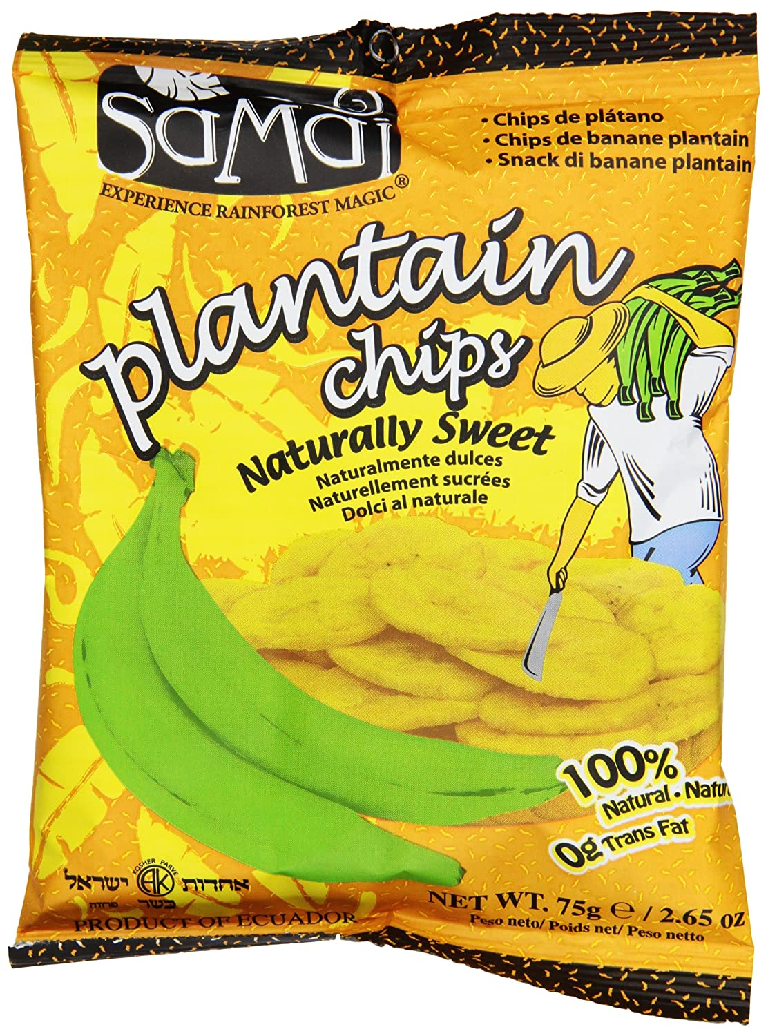 Amazon.com: Samai Plantain Chips, Naturally Sweet, 2.65 Ounce (Pack of 15)