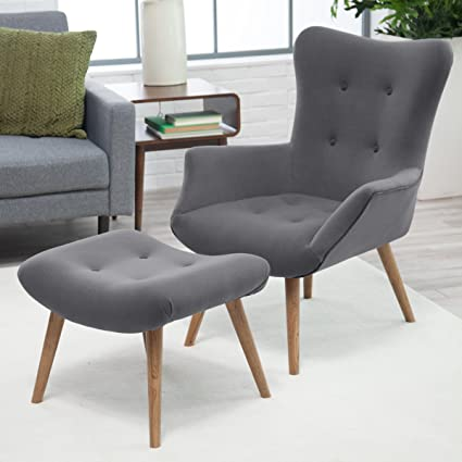 Bon Belham Living Matthias Mid Century Modern Chair And Ottoman
