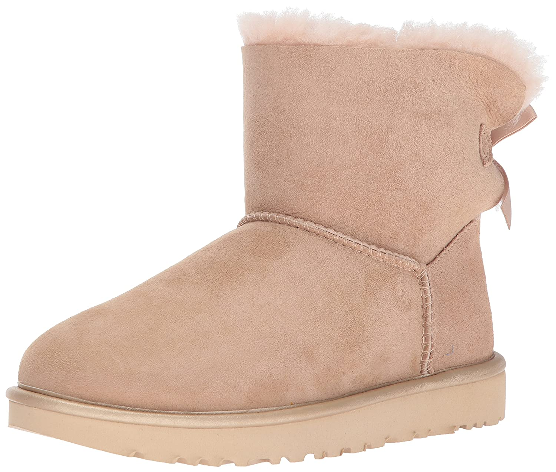 bootss ugg mini bailey bow metallic ii amazon co uk shoes bags