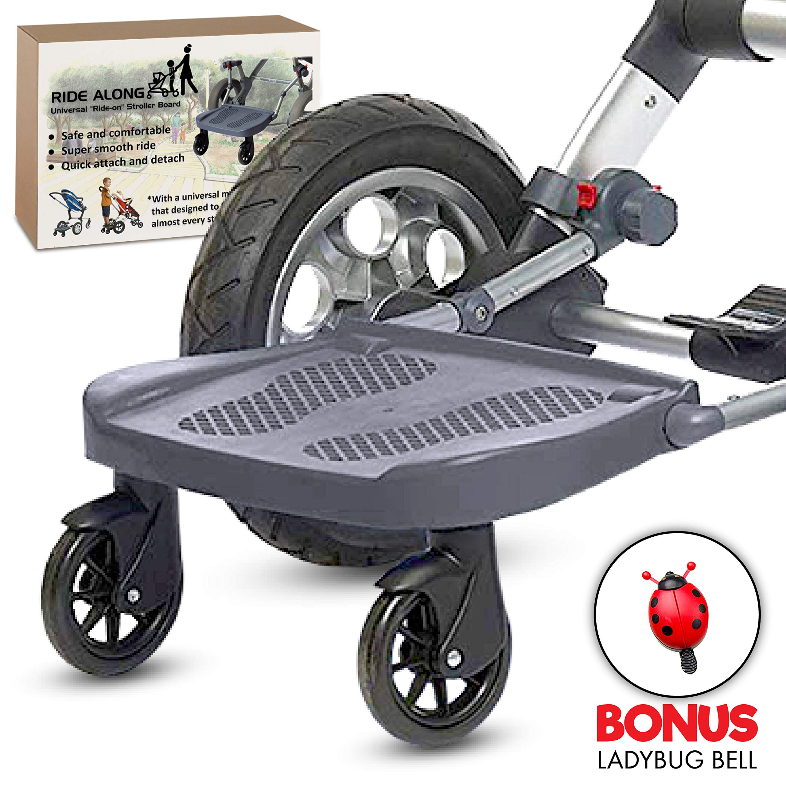 Ride Along - Universal Mount Ride-On Stroller Board Toddler Bump-Free Anti-Slip Buggy Stand by EZ step (Image #9)