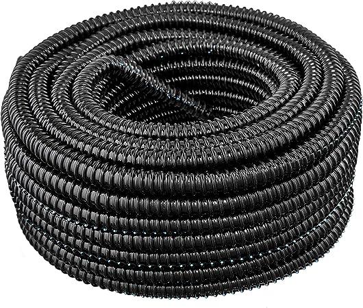 20 FT 1 INCH BLACK SPLIT LOOM TUBING CONDUIT POLYETHYLENE CONVOLUTED WIRE