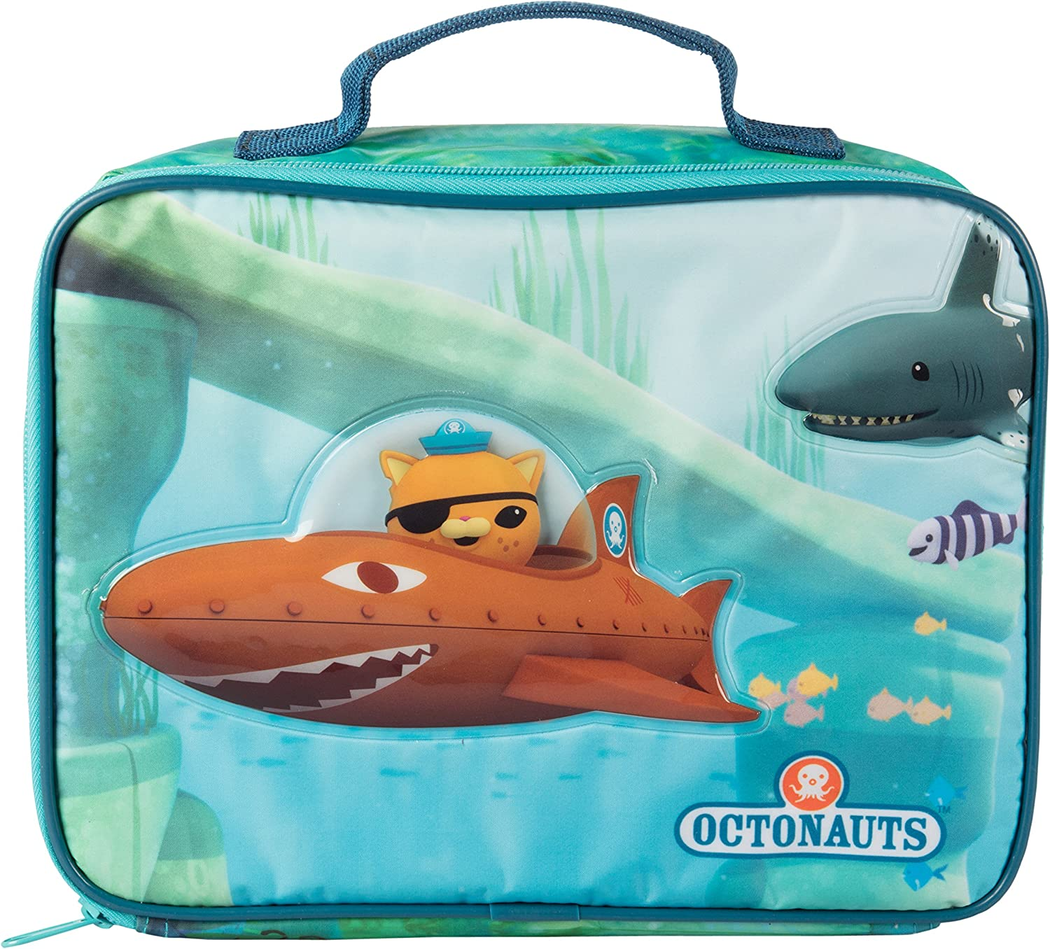 Octonauts Insulated Lunch Sleeve Reusable Heavy Duty Tote Bag W Mesh Pocket Submarine Kitchen Dining