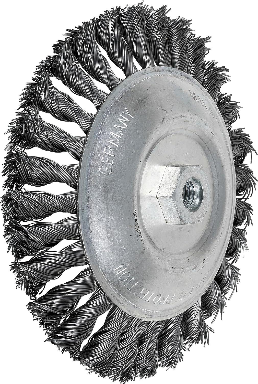 10000 rpm 7 Diameter PFERD Inc. 0.020 Wire Size 7 Diameter PFERD 82509 Knot Bevel Brush 5//8-11 Thread Carbon Steel Wire