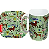 Selina-Jayne Horse Racing Limited Edition Designer Mug and Coaster Gift Set