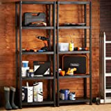 VonHaus 4 Tier Garage Shelving Unit with Wall