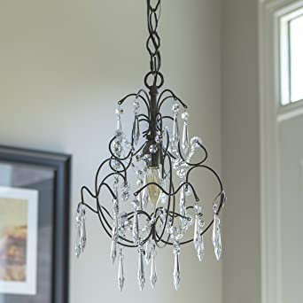 Decor Therapy Mariella 1 Light Brown Chandelier CH1413 The