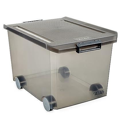 Tatay Caja de Almacenamiento con Ruedas, 60 L de Capacidad, 37,7 x