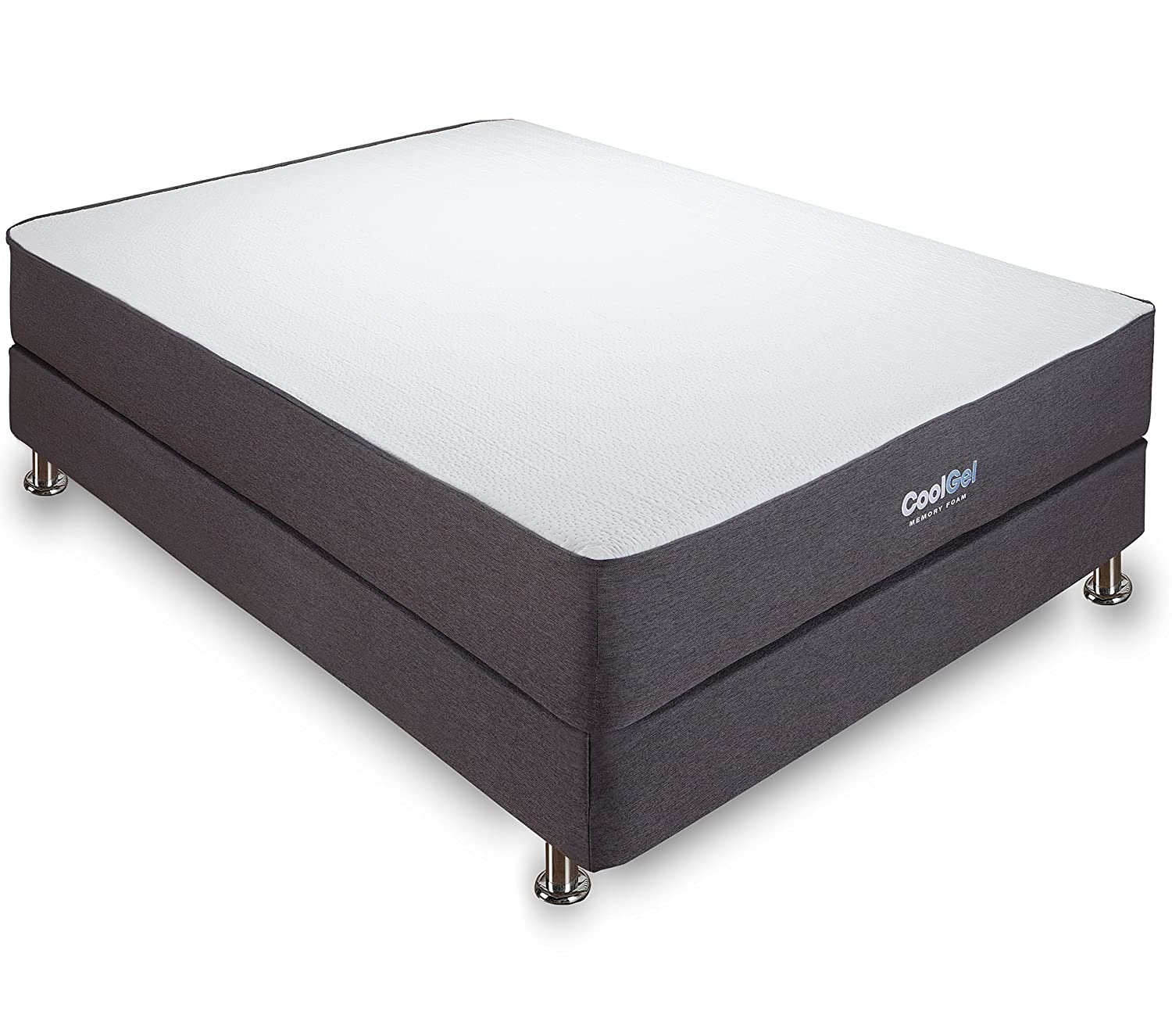 classic brands 105 inch cool gel ventilated memory foam mattress queen