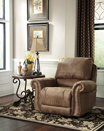 Ashley Furniture Signature Design   Larkinhurst Rocker Recliner   Manual  Reclining Chair   Traditional Style