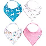 """Baby Bandana Drool Bibs for Drooling and Teething 4 Pack Gift Set for Girls """"Whimsy Set"""" by Copper Pearl"""