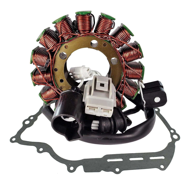 Stator + Crankcase Cover Gasket For Yamaha YXR700 Rhino / YXM700 Viking / YXC700 Viking VI 2008-2018 OEM Repl.# 1XD-81410-00-00 5B4-81410-00-00 3B4-15451-00-00 RMSTATOR