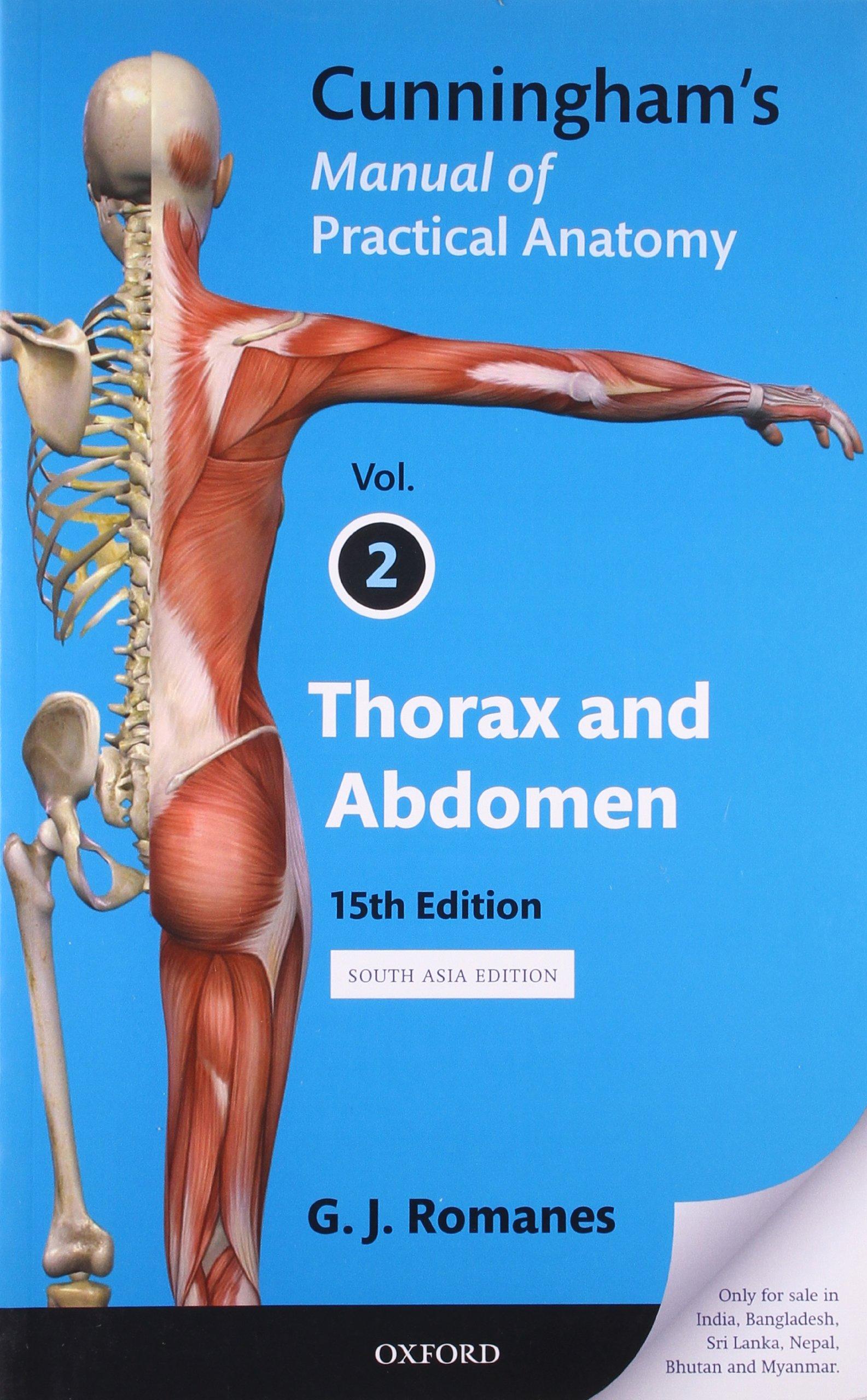 Amazon Buy Cunninghams Manual Of Practical Anatomy Vol 2