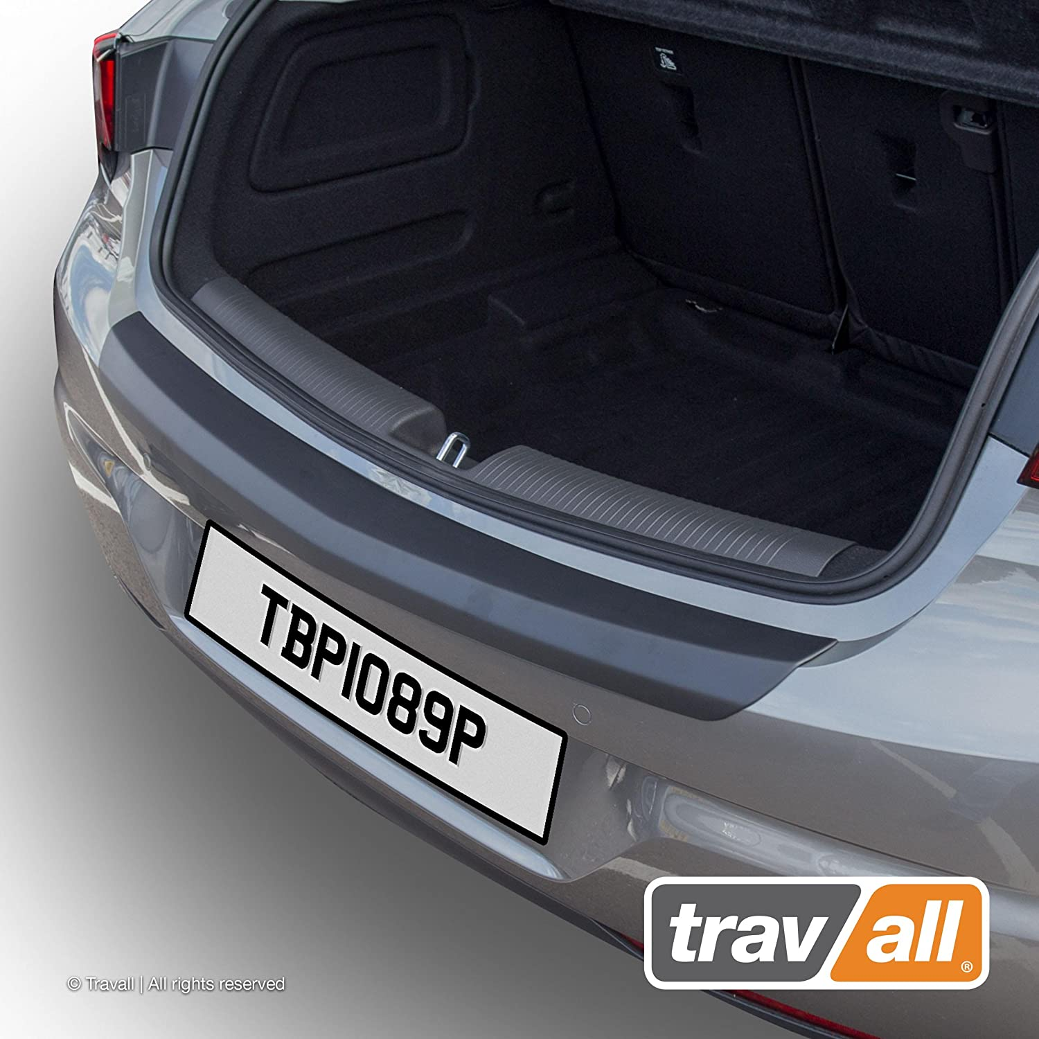 Travall Protector TBP1089P Vehicle-Specific Black Plastic Moulded Rear Bumper Protector Smooth