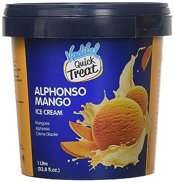 Amazon Com Vadilal Alphonso Mango Ice Cream 1 Liter Ltr