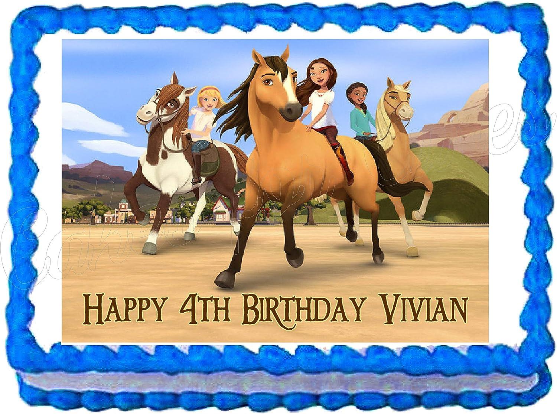 Amazon.com: Spirit Horse - Decoración comestible para tarta ...