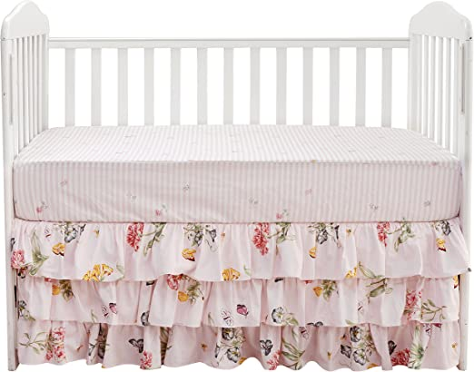 Brandream Girl Navy Crib Sheet Dark Floral Fitted Crib Sheet Vintage Fitted Crib