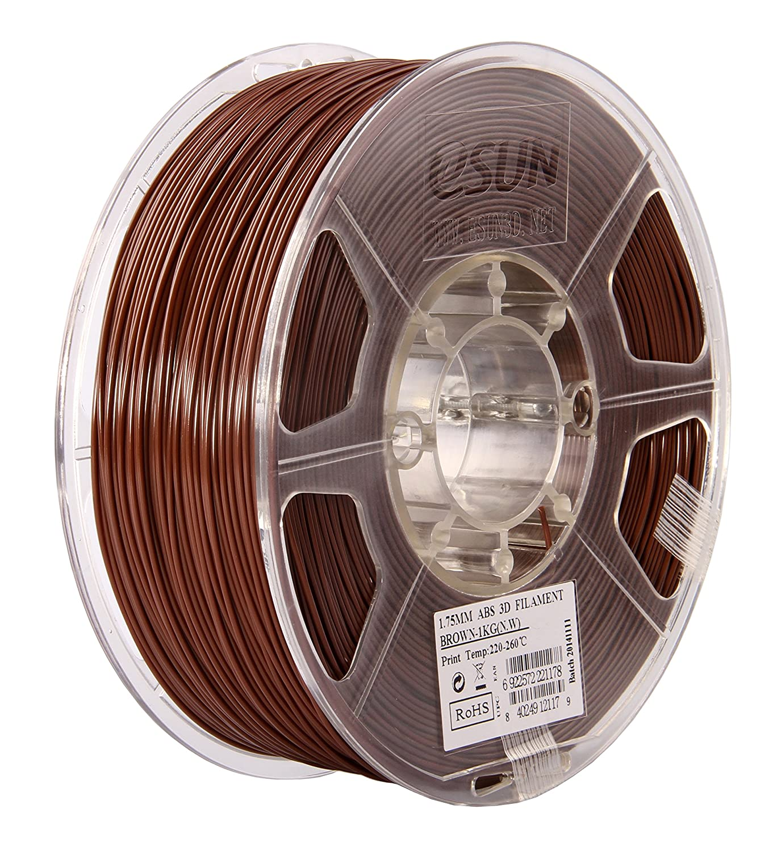 eSUN 1.75mm Brown ABS 3D Printer filament 1kg Spool Brown ABS175C1 2.2lbs