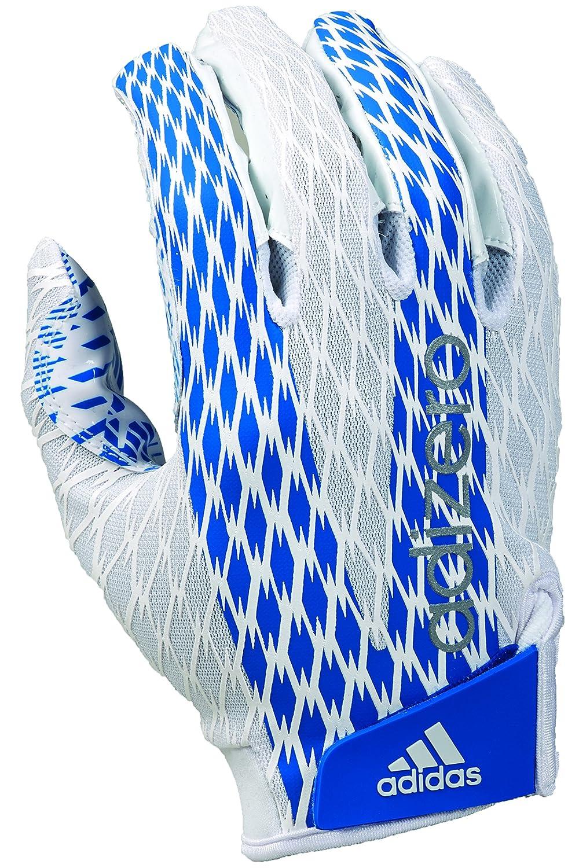 adidas adiZERO 4.0シリーズ 大人用 アメリカンフットボール レシーバー用グローブ B00WI01ONC ホワイト/ロイヤル 3X-Large