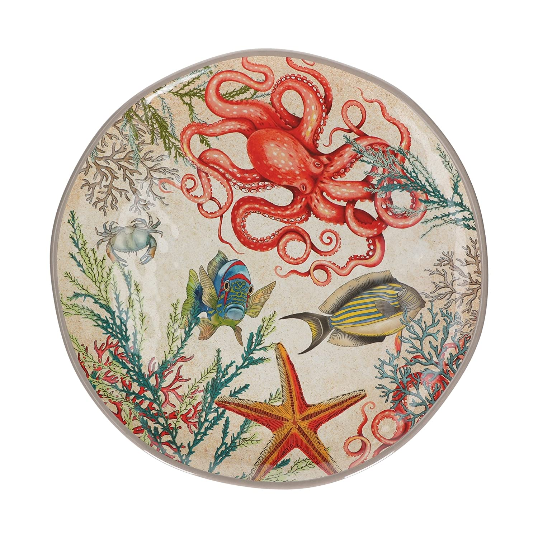 100/% melamina, 42 cm de di/ámetro, en caja de regalo Fuente redonda Nador PR13320006M Sea Life