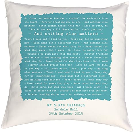 Madness /'It Must Be Love/' Personalised Song Lyrics Cushion 2nd Anniversary Gift