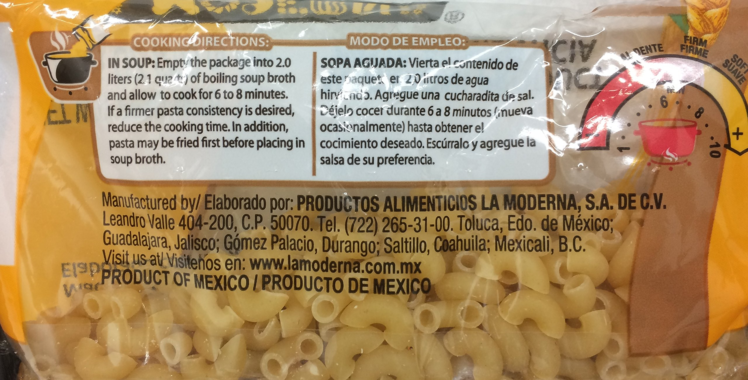 La Moderna Elbows/Codos 100% Duurm Wheat 7.05 Oz. Pack Of 3.