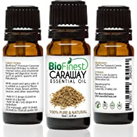 Biofinest Caraway Essential Oil - 100% Pure Undiluted, Organic, Therapeutic Grade - Best For Aromatherapy, Antioxidant…