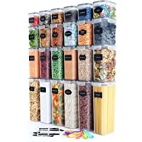 Airtight Food Storage Container Set Kitchen & Pantry Organization BPA-Free Plastic Canisters Storage Containers with…