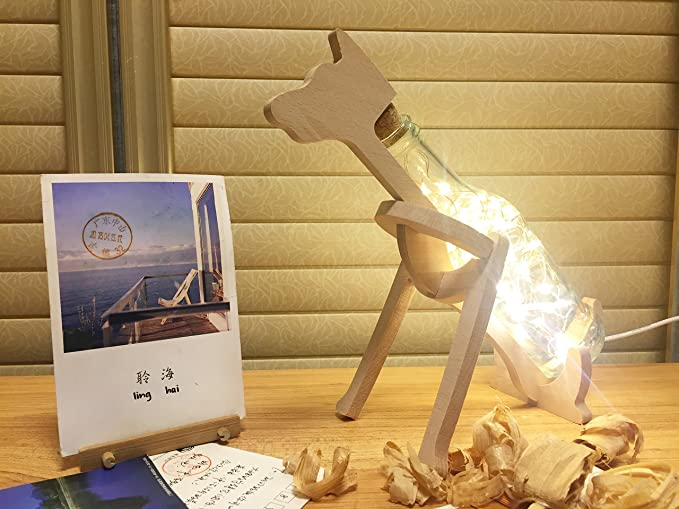 Copper Wire Lamp String Beech Animal Modeling Art USB Night Lights ...