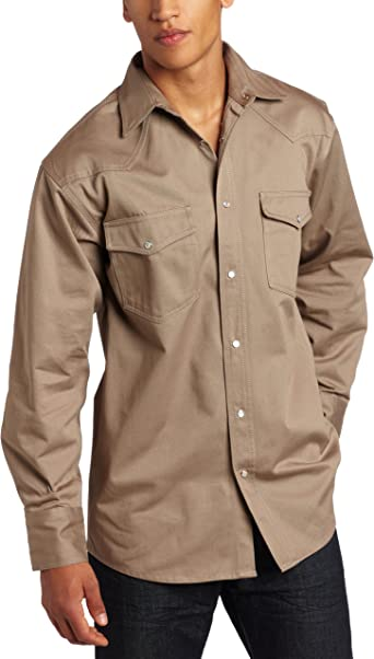Choose SZ//color Details about  /Key Industries Men/'s Long Sleeve Western snap Weld
