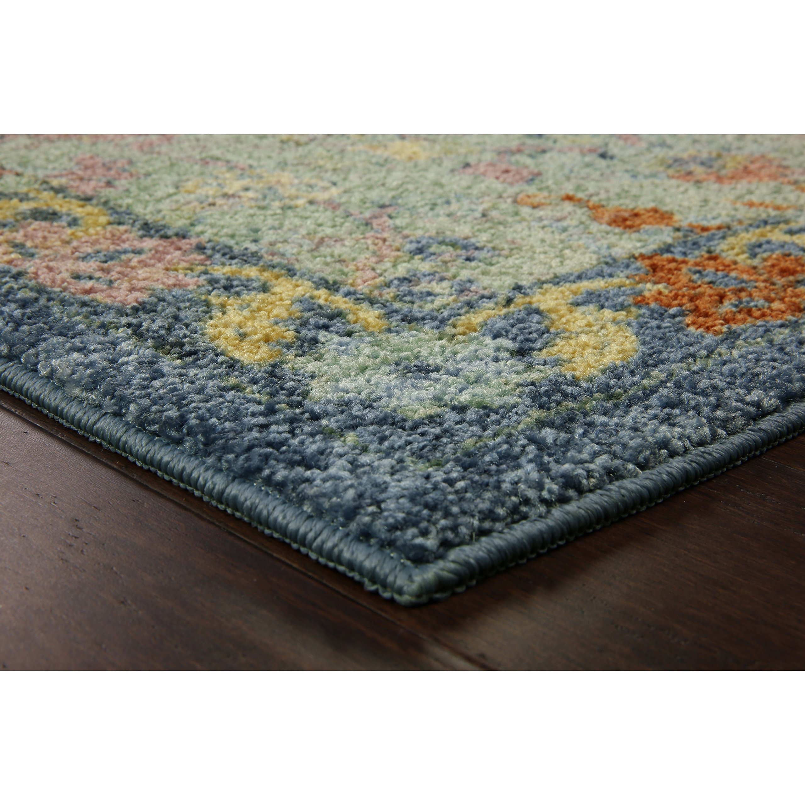 Area Rugs, Maples Rugs [Made in USA][Tilda Artwork Collection] 7' x 10' Non Slip Padded Large Rug for Living Room, Bedroom, and Dining Room by Maples Rugs (Image #2)