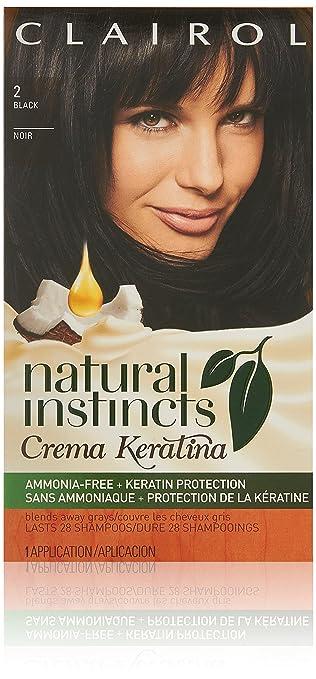 1. Clairol Natural Instincts Crema Keratina Hair Color Kit
