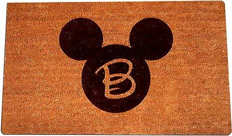 100/% Natural Coir Fiber Disney Beauty and The Beast Laser Engraved Door Mat