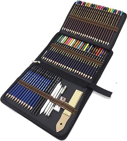 Kit de Dessin Crayons Croquis Esquisse pour Dessiner Coloriage Artiste Manga