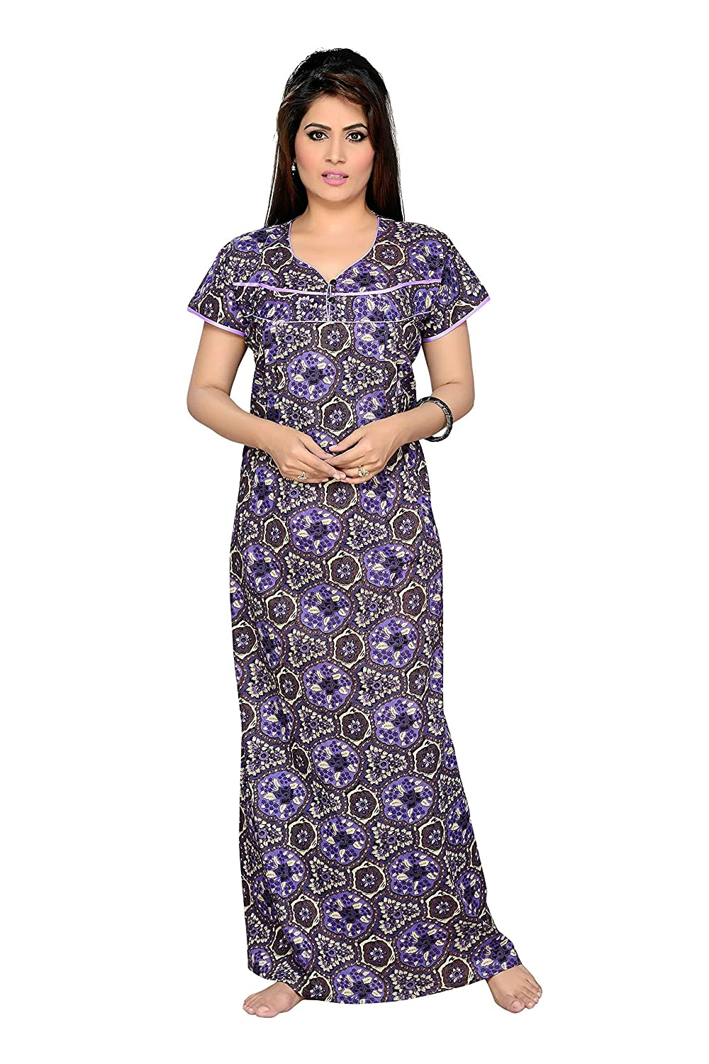 6d3087a4a7463 Soulemo Blue Feeding Nighty 365C_L: Amazon.in: Clothing & Accessories
