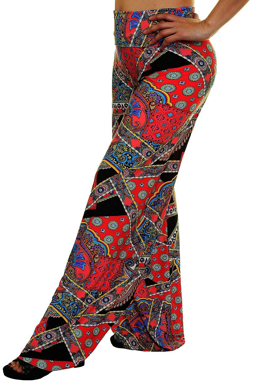 LA Palazzo Los Angeles Womens Fold-Over Waist Pants Made in USA