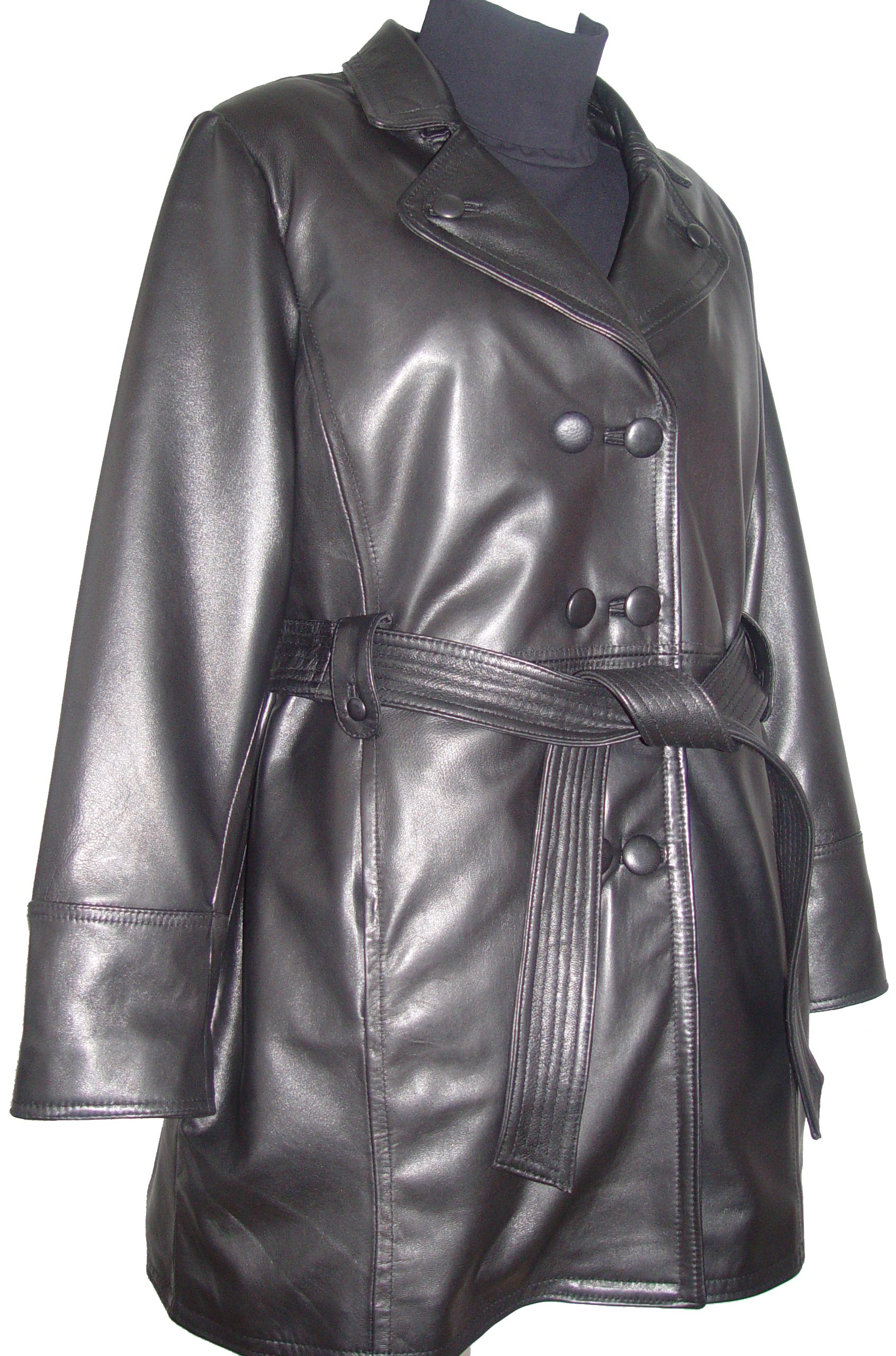 Johnnyblue 4 Season Wear Womens 5006 PETITE & ALL SIZELambskin Leather Trench Coat by Johnnyblue (Image #7)