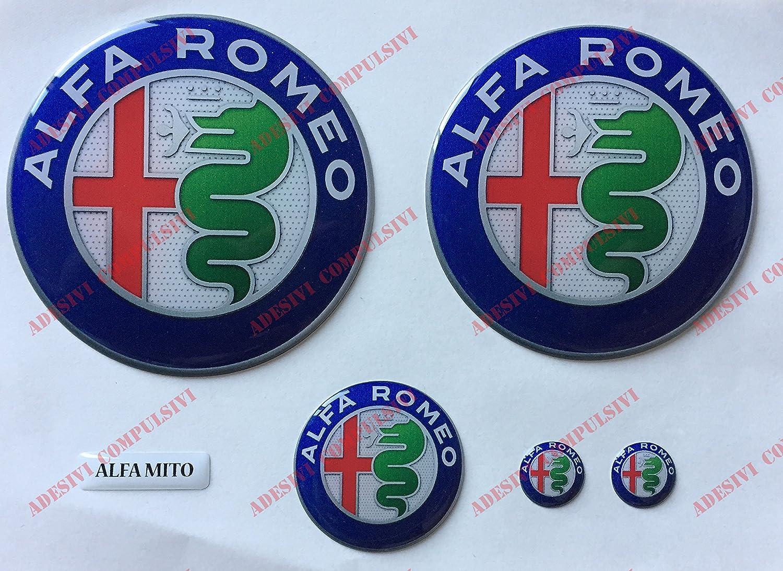 Wappen Logo Mito Alfa Romeo Ant Post Lenkrad Aufkleber 3d Fries Symbol Geharzt Classico Auto