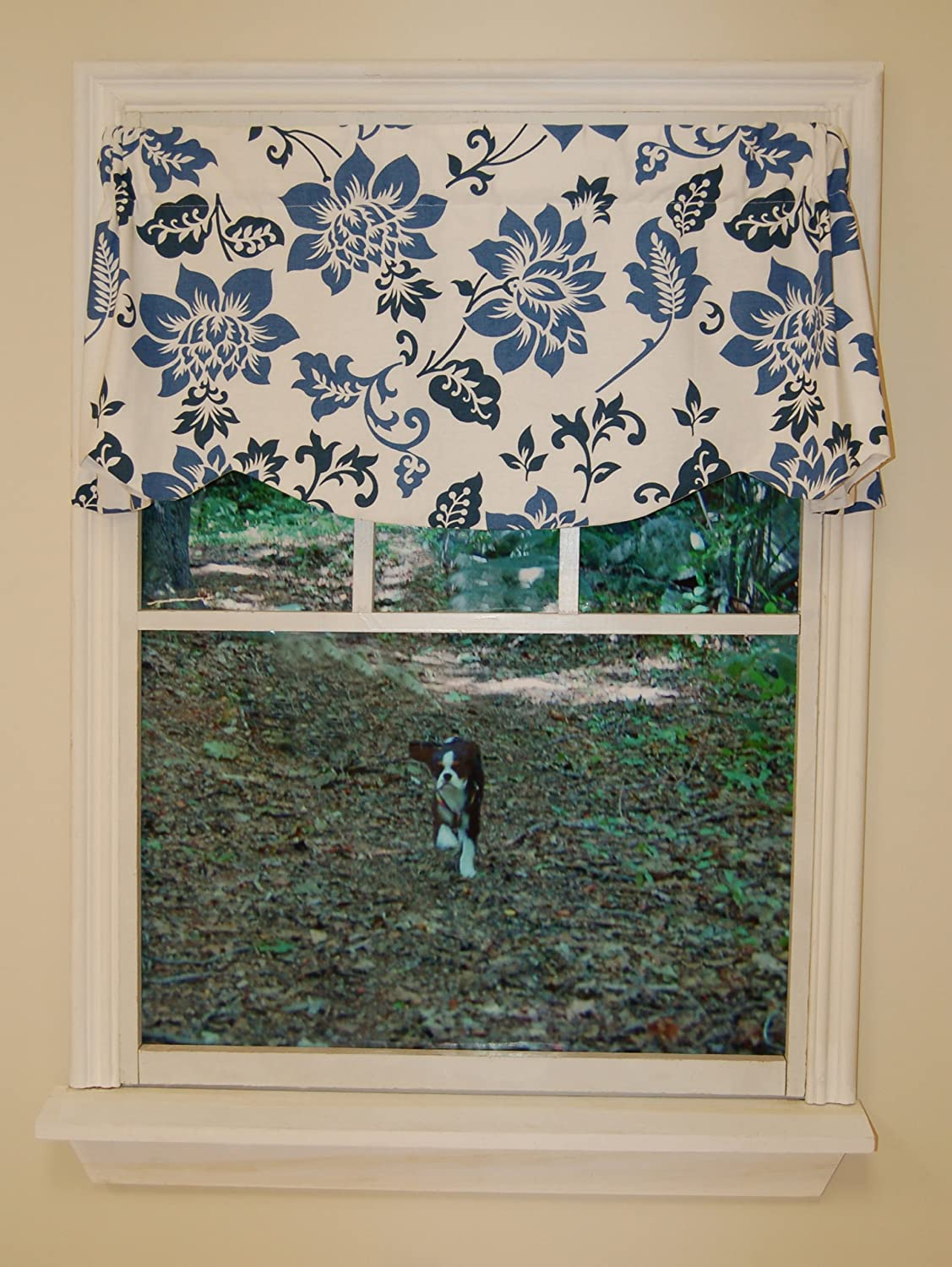amazon com curtain chic jacobean abstract beacon valance delft